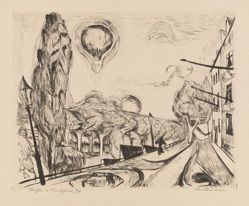 Landschaft mit Ballon (Landscape with Balloon)
