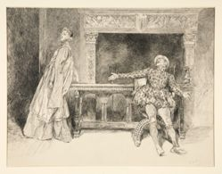 Petruchio Banters Katharina, from Act II, Scene i, Taming of the Shrew