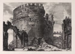 Sepolcro di Cecilia Metella . . . (Tomb of Caecilia Metella . . . ), from Vedute di Roma (Views of Rome)