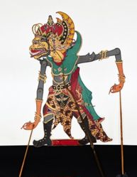 Shadow Puppet (Wayang Kulit) of Cakil