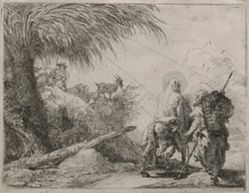 The Holy Family on a Rocky Path, from the series Idee pittoresche sulla fuga in Egitto (Flight into Egypt)