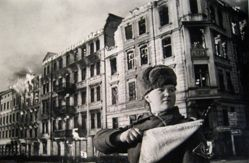 Soviet Policewoman Directing Traffic, Berlin, from The Great Patriotic War, Vol. II