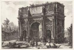 Veduta dell'Arco di Constantino (View of the Arch of Constantine), from Vedute di Roma (Views of Rome)