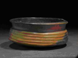 Cylindrical bowl with horizontal channeling