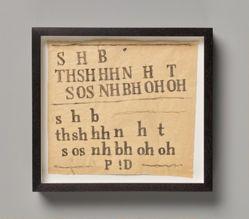 Untitled text drawing (SHB)