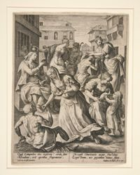 The Wise Virgins Administering Acts of Mercy, from the Parable of the Wise and Foolish Virgins