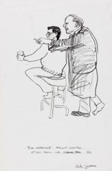 Budd Hopkins and Philip Guston (Study for Cedar Bar)