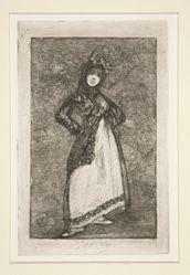Maja [with a dark background]