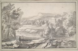 Landscape with a Country House in the Distance