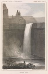 Peluse Falls, pl. 41 of the U.S.P.R.R. Expedition and Surveys, 47-49 parallels