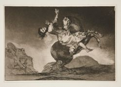 El caballo raptor (The Horse Abductor), pl. 10 from the series Los proverbios
