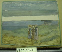 Landscape Study with Three Figures