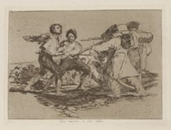 Con razon ó sin ella (Rightly or Wrongly), Plate 2 from Los desastres de la guerra (The Disasters of War)