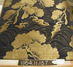 Length of obi silk, compound twill