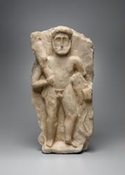 Relief of Herakles, standing