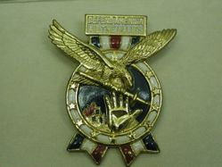 """Brooch, """"Defend America Aid the Allies"""""""