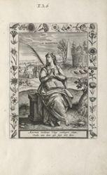 Saint Martina, 1 of 25 plates from the series Martyrologium Sanctarum Virginum (Female Martyr Saints)