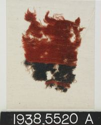 Red Fragment with 2 blue bands