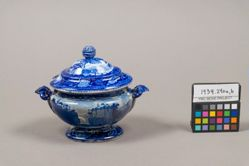 Tureen with views of Hudson River and Passaic Falls, State of New Jersey