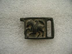 Buckle with horse