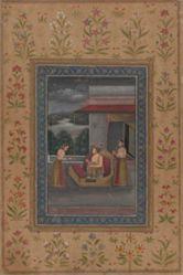 Illustration to a ragamala : Raga Malkauns