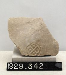 Pottery fragment with stamped decoration