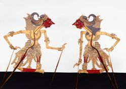 Shadow Puppet (Wayang Kulit) of Rupakenca or Rupokenco, from the consecrated set Kyai Nugroho