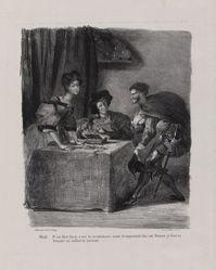 Méphistophélès se présente chez Marthe (Mephistopheles Presents Himself in Marthe's Home), from Johann Wolfgang von Goethe's Faust