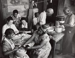 Preparing the church dinner, Harlem, New York City