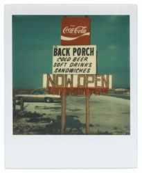 Untitled [Roadside Advertisement for The Back Porch Restaurant, Destin, Florida]