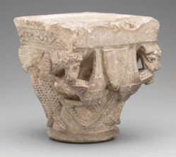 Romanesque Capital with Animal Ornament