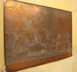 Copper plate for Death of Montgomery at Quebec