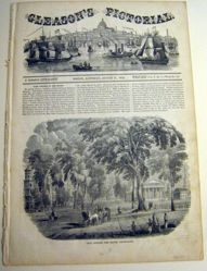 Gleason's Pictorial View of Yale College from the South