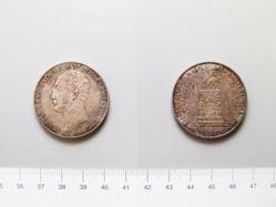 Silver ruble of Alexander II commemorating Nicholas I