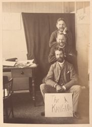 The Kangaroos (unidentified man, Frederick B. Schell, and probably William Fitler), from the album [Sydney, Australia]