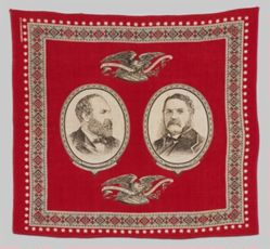 James A. Garfield and Chester A. Arthur Bandanna