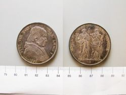 1 Scudo of Pope Pius VIII from Bologna