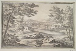 Italianate Landscape with River and Villas