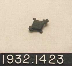 Diamond-Shaped Bronze Pin