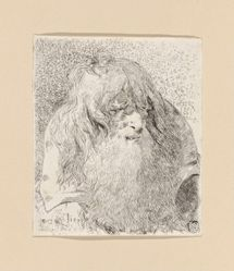 Old Man with a Beard and Long Hair, from the Raccolta di Teste (Collection of Heads)