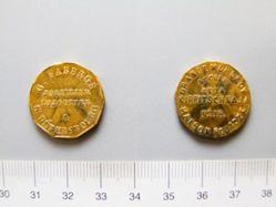Advertising token of Gustav Fabergé