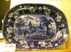 Platter with view of Esplanade, Castle Garden, N.Y.