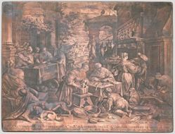 Copper plate for The Rich Man and Lazarus