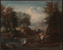 Figures by a River