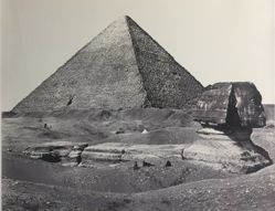 The Great Pyramid, and Great Sphinx
