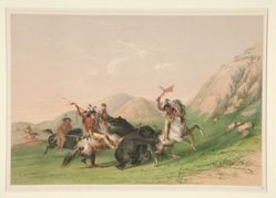 Attacking the Grizzly Bear, pl. 19 from the North American Indian Portfolio