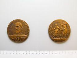 Bronze Medal of Woodrow Wilson, Paris