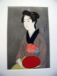 Woman with a Tray