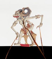 Shadow Puppet (Wayang Kulit) of Hanoman or Romodhoyopati, from the consecrated set Kyai Nugroho