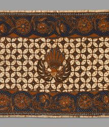 Scarf of fine cotton cloth, batik dyed